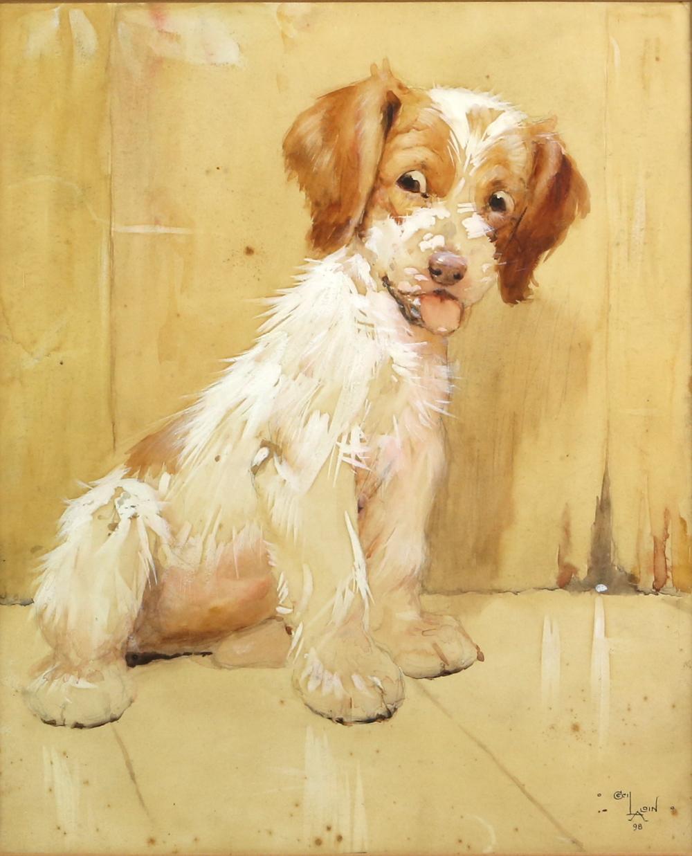 Cecil Aldin watercolour of a puppy
