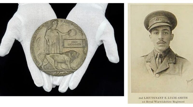 The commemorative medal of Lieutenant Euan Lucie-Smith