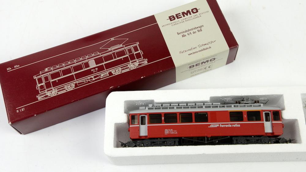 A BEMO locomotive train set