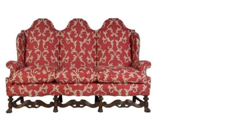 Antique country house sofa in Carolean style