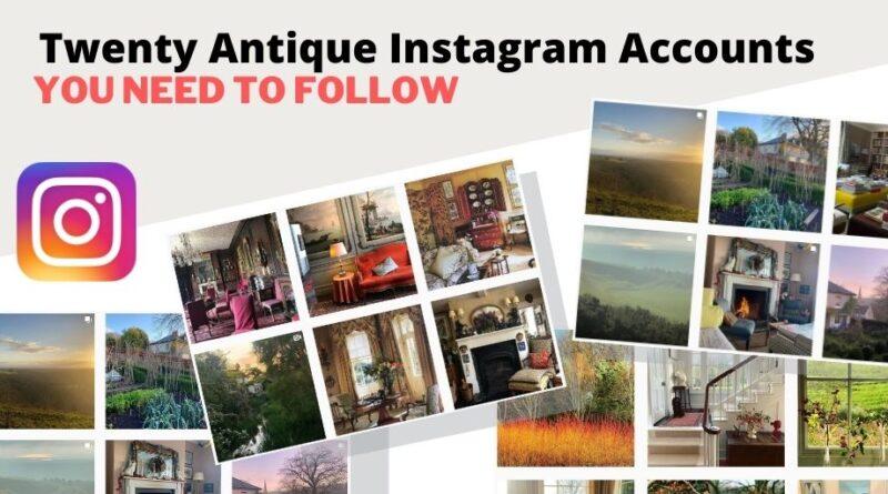20 antique instagram accounts