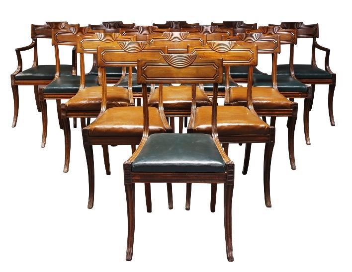 Regency mahogany dining chairs
