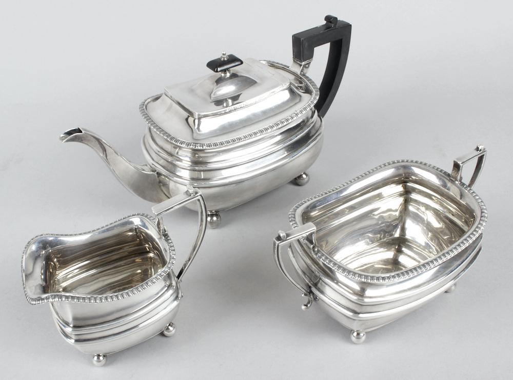 1920s James Dixon Sons silver tea service
