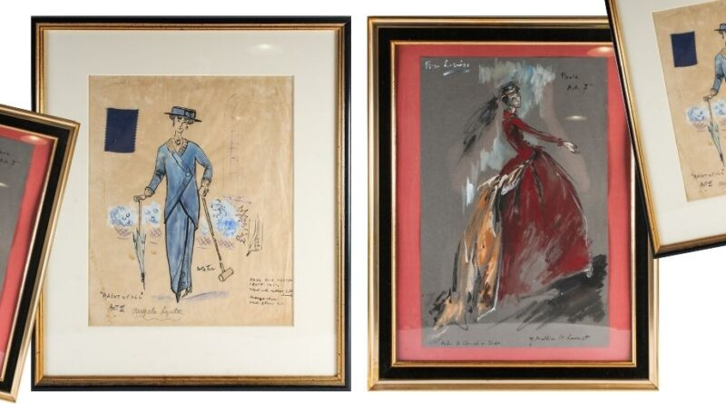 Yves Saint Laurent and Cecil Beaton costume designs