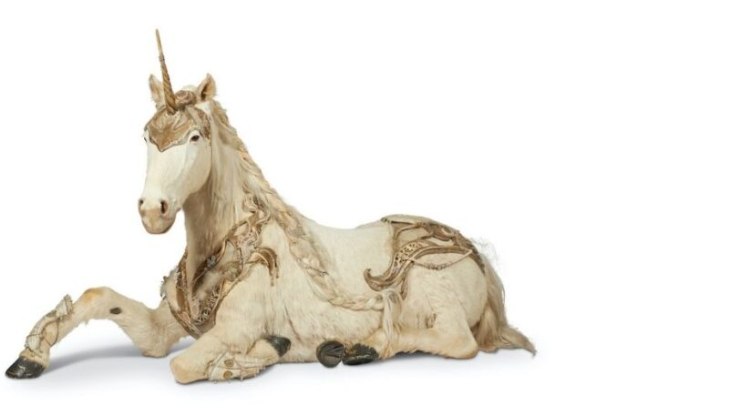A model unicorn from the Aynhoe Park sale