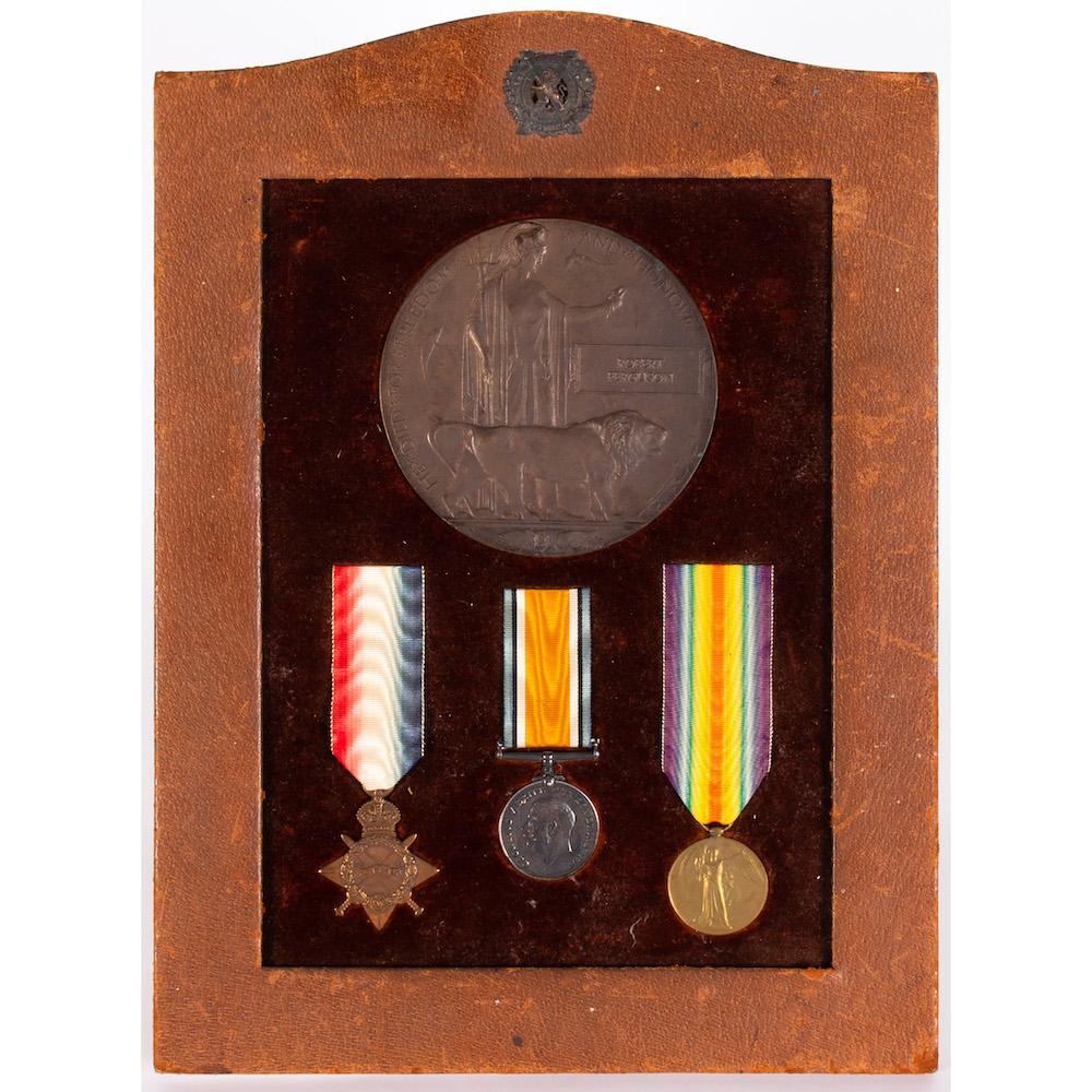 A trio of war medals