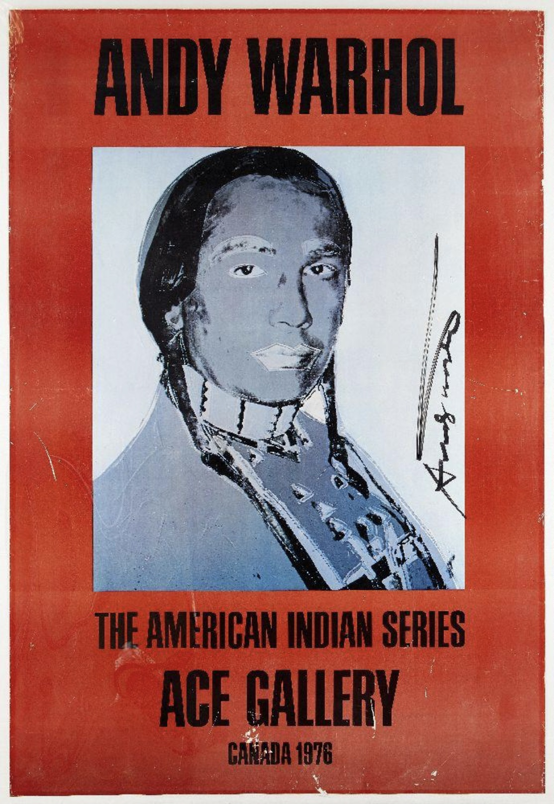 Andy Warhol - The American Indian series (Red)