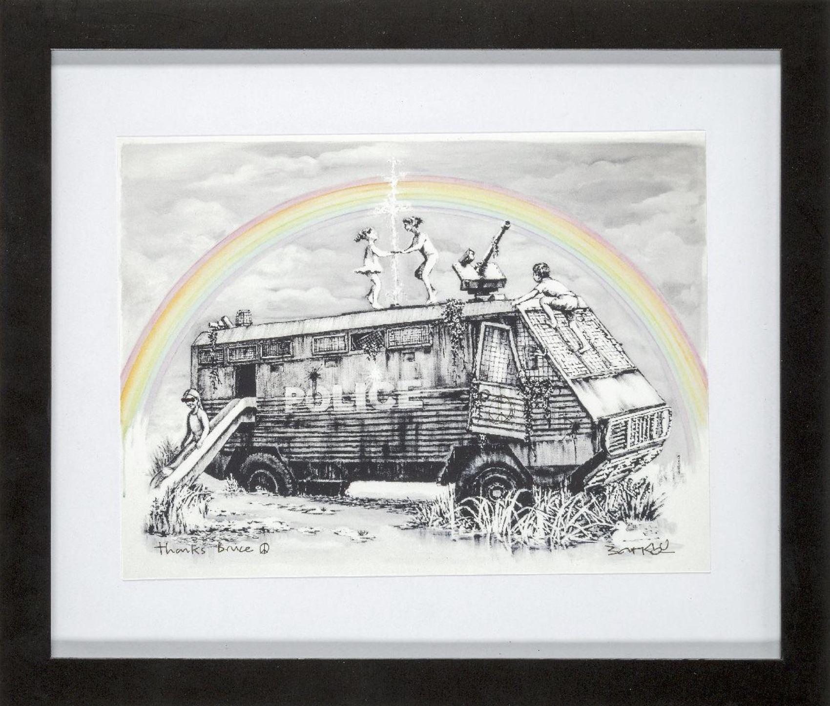 Banksy - Police Riot Van