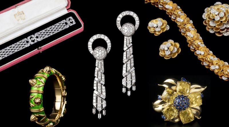 Selection of antique jewellery from Mallams auction house