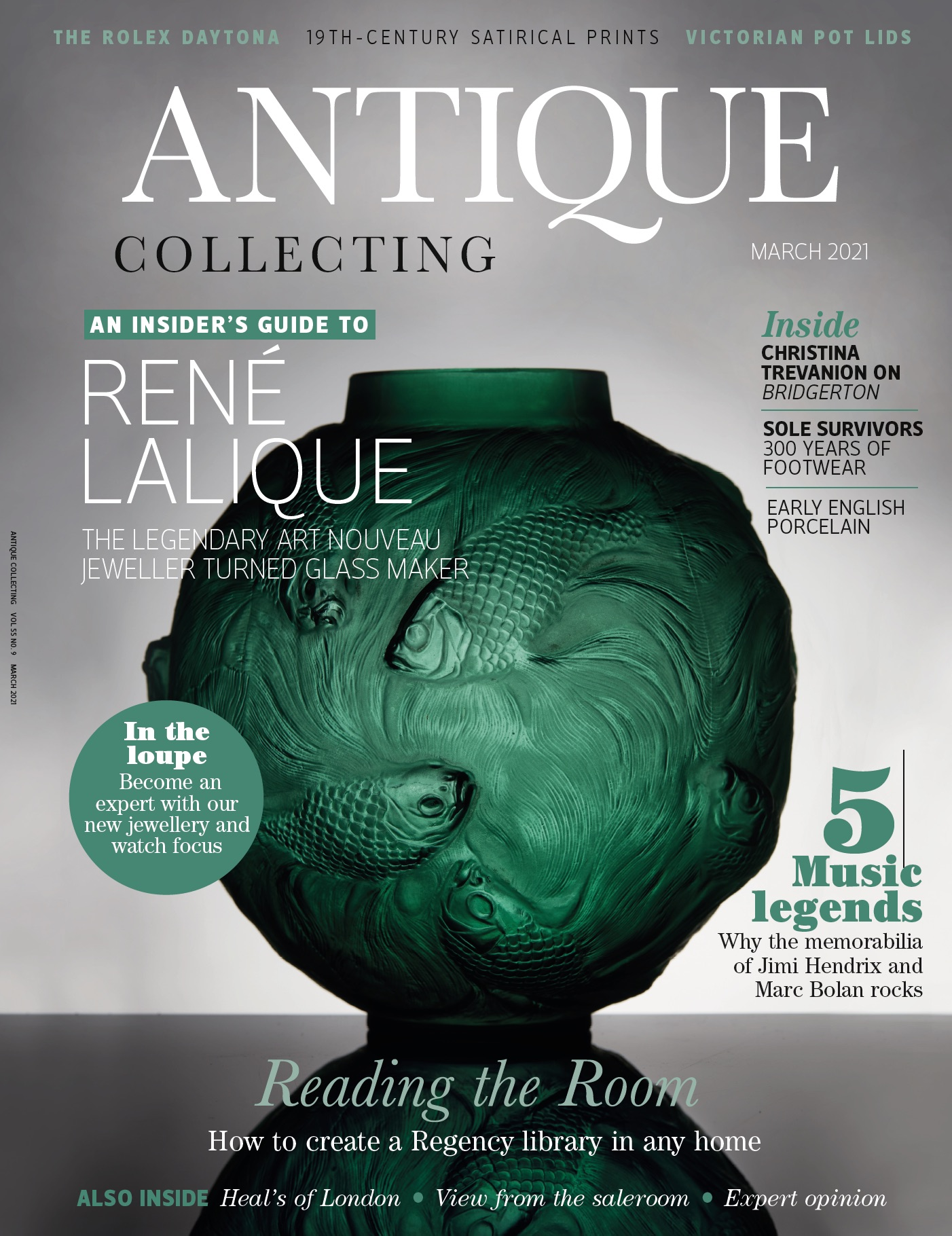 Cover of Antique Collecting March 2021