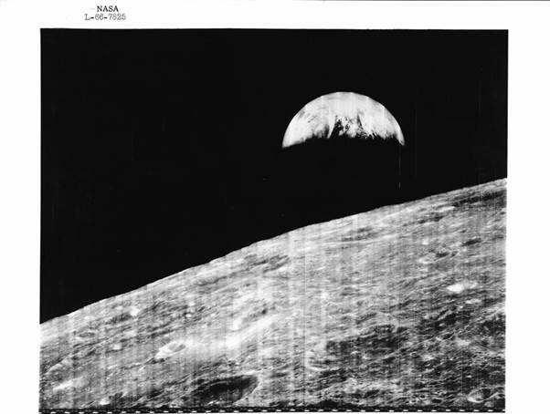 The world's first view of the Earth from the Moon's perspective