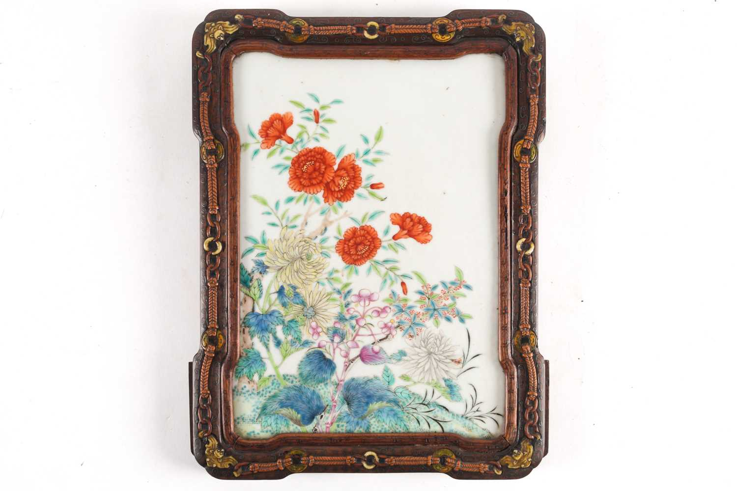 A Qing 19th century Chinese porcelain panel