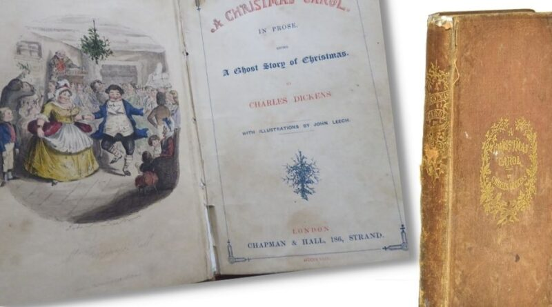 A First Edition of A Christmas Carol by Charles Dickens