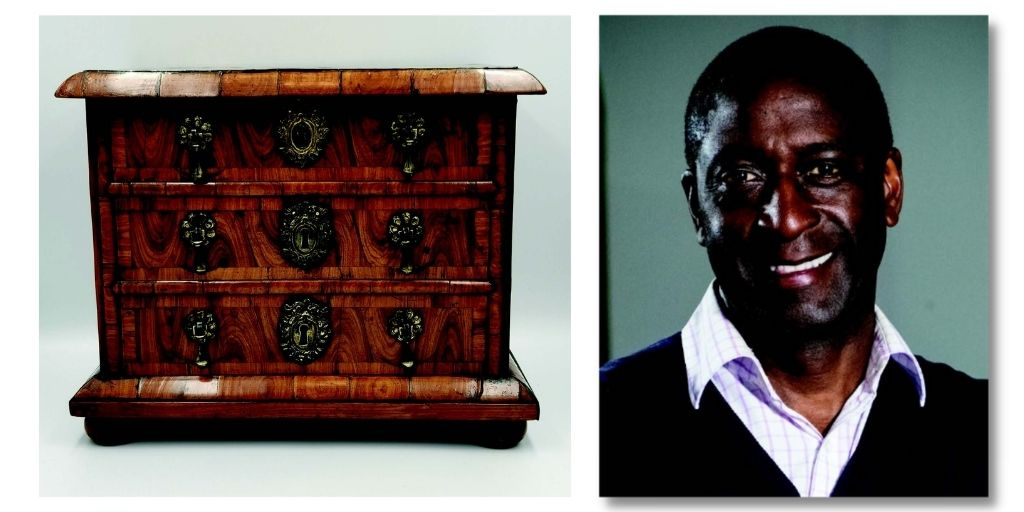 Lennox Cato and an antique miniature chest