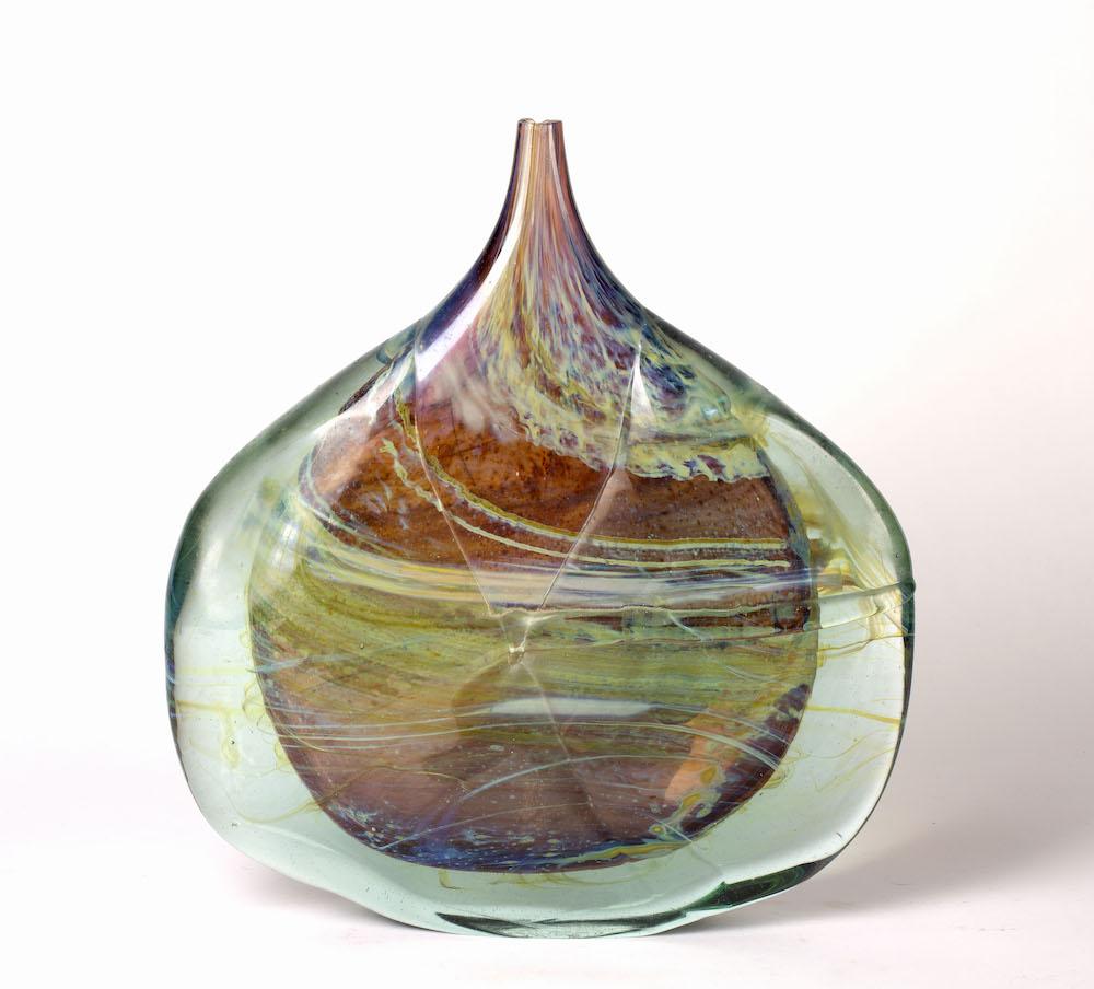 Aurene fish vase by Michael Harris