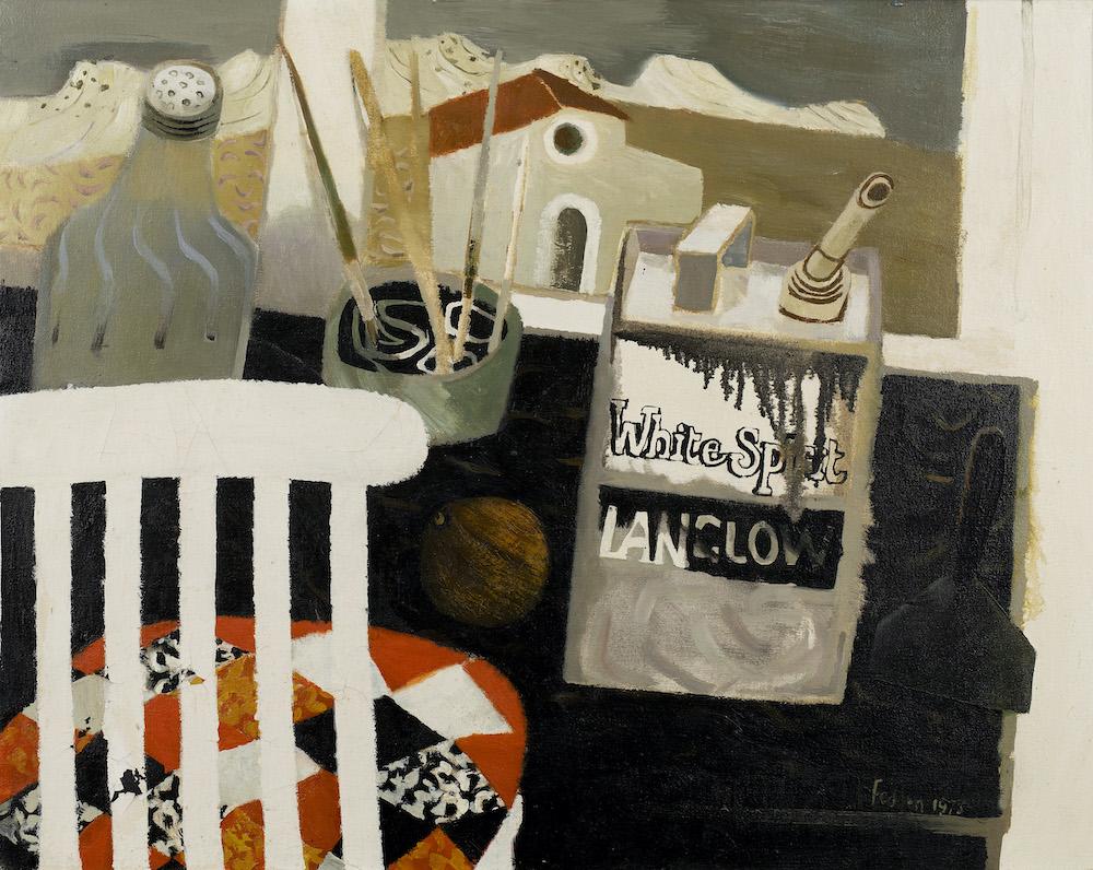Mary Fedden O.B.E. R.A. R.W.A. (British 1915-2012) - The Etching Table, 1975