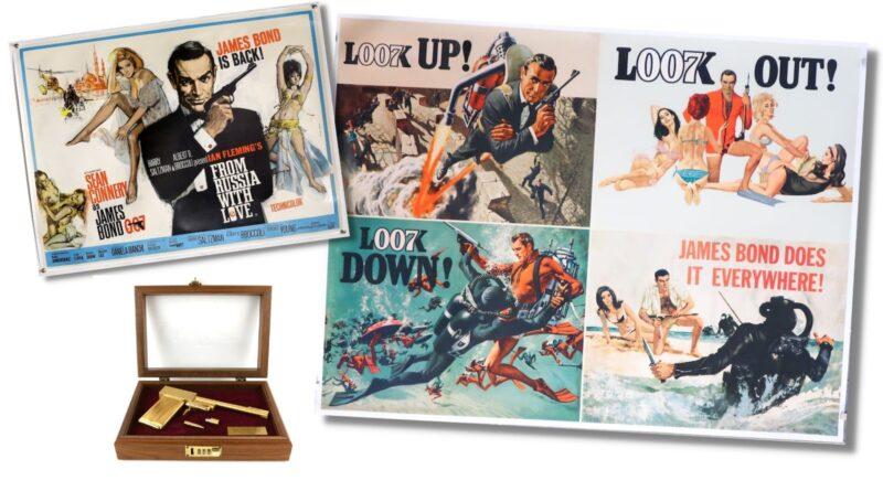 Selection of original James Bond film posters