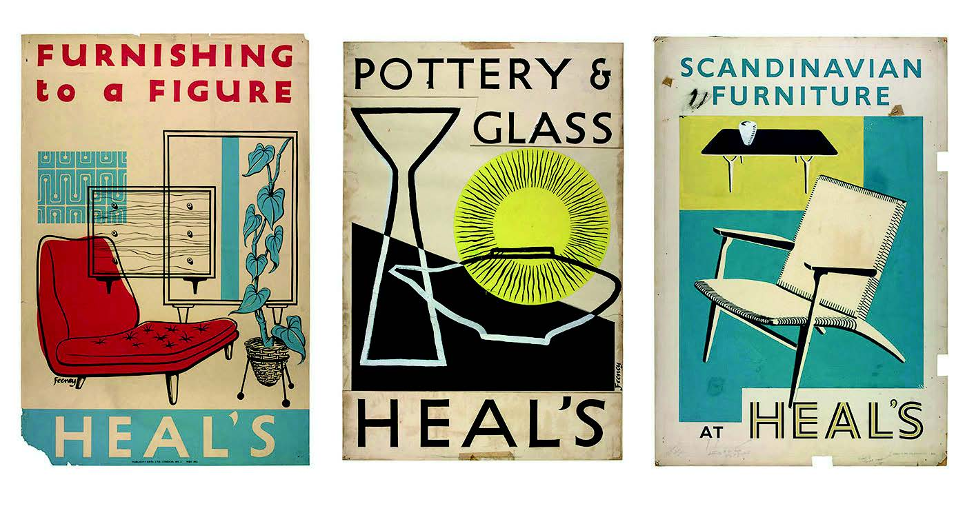 Advertisingposters showed thebreadth of the Londonstore's range, createdby in-house displaymanager CharlesFeeney