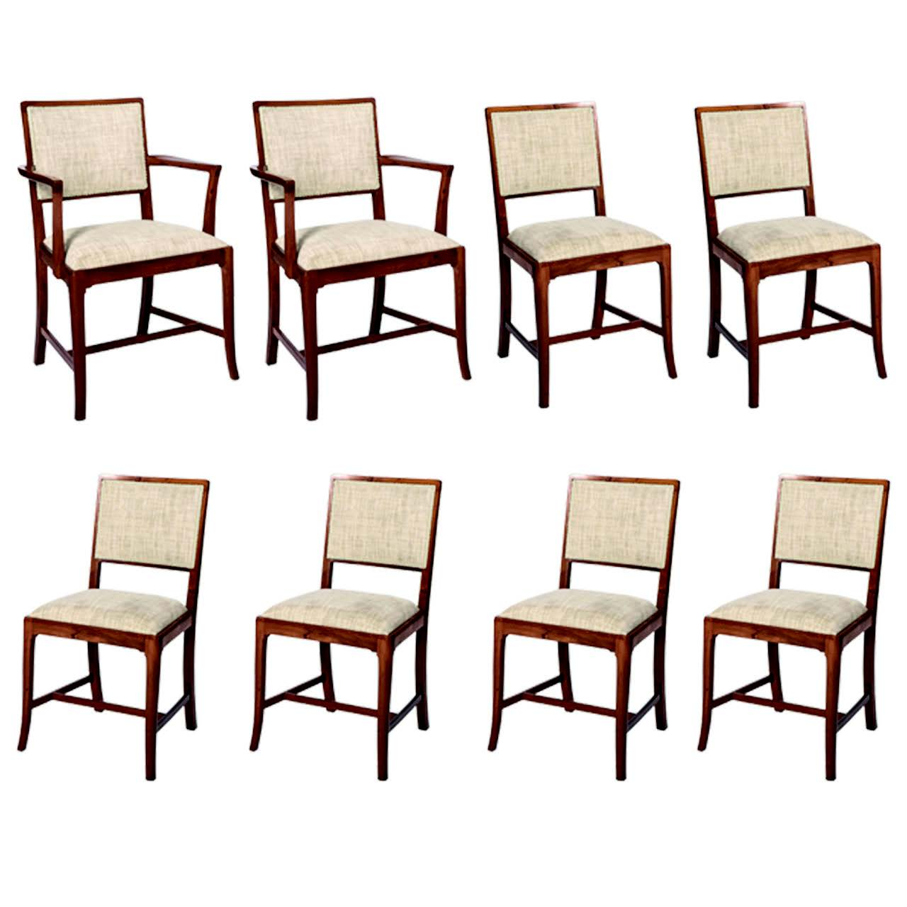 A set of eight yewdining chairs by Heal'sof London, c. 1930