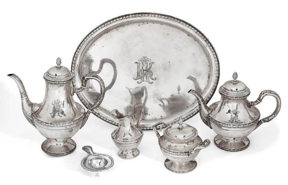 A German 800 silver tea service, Frankfurt-am-Main, 1870-1930, Lazarus Posen