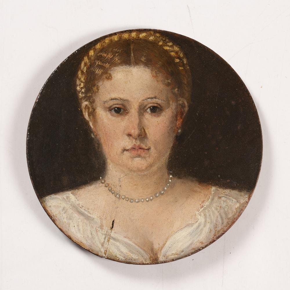 A portrait roundel of Elisabetta Querini, the Dogaressa of Venice
