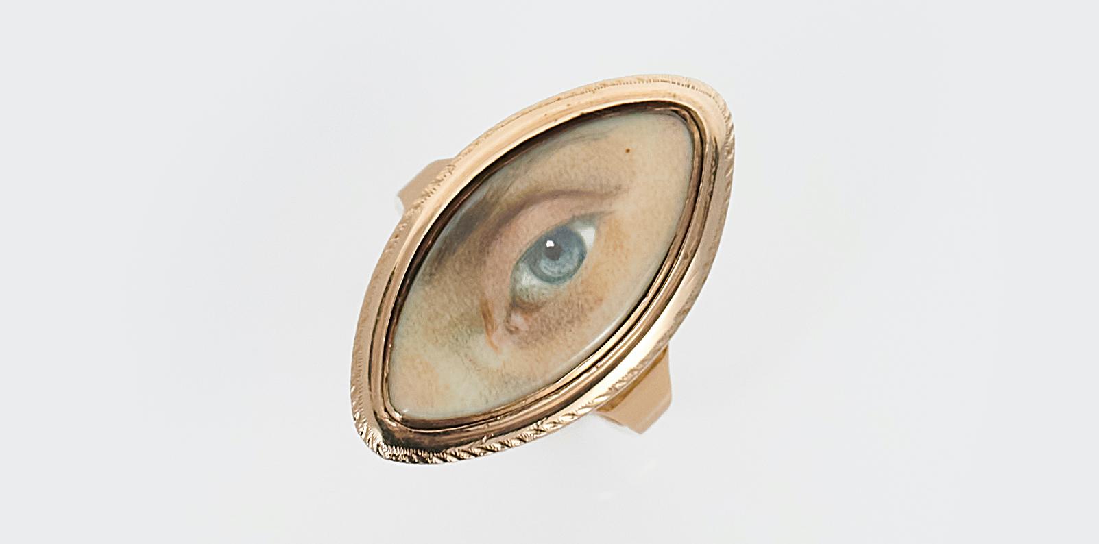 Antique Georgian lover's eye ring