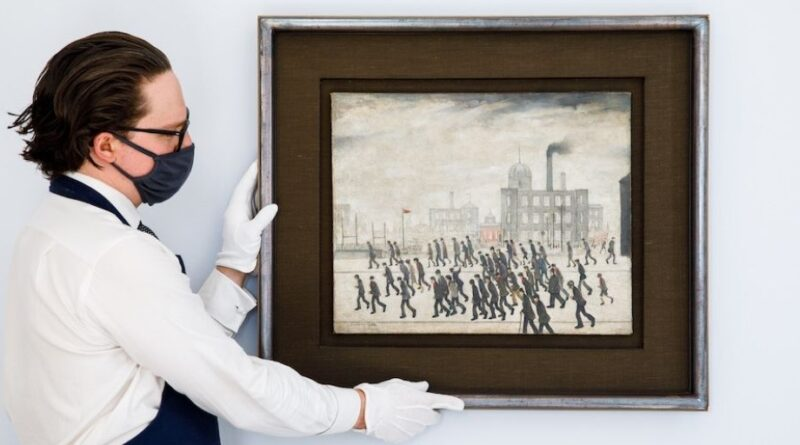 LS Lowry Going to the Match at Sotheby's