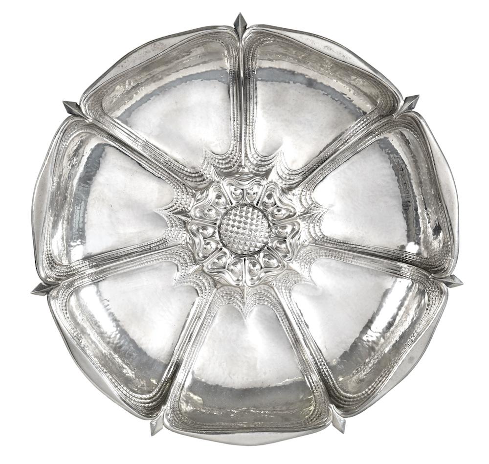 Omar Ramsden silver dish