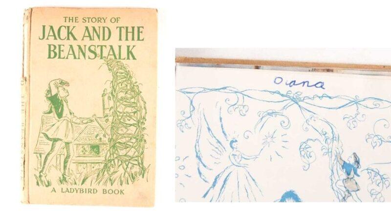 A signed copy of Princess Diana's childhood book