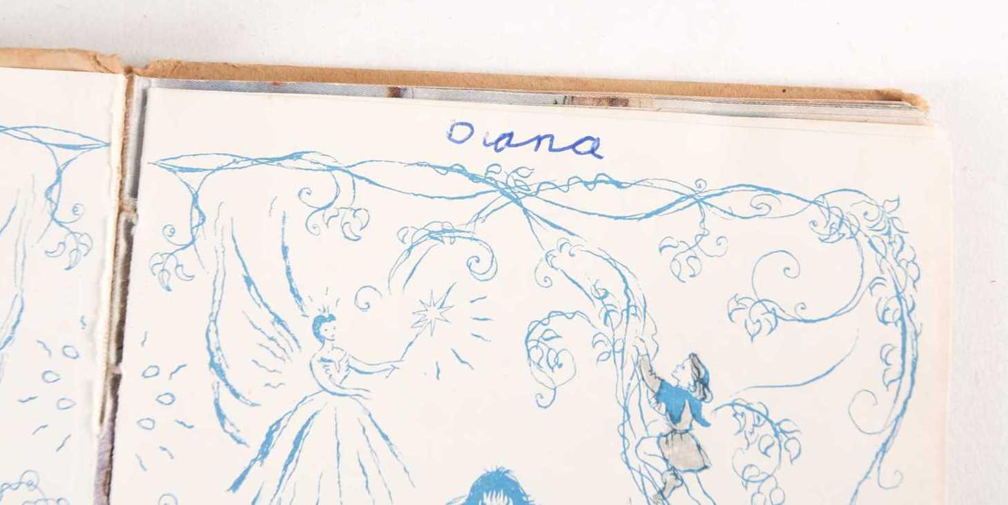Princess Diana's signature on childhood book