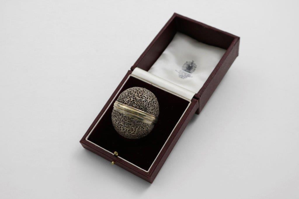 the silver bezoar holder