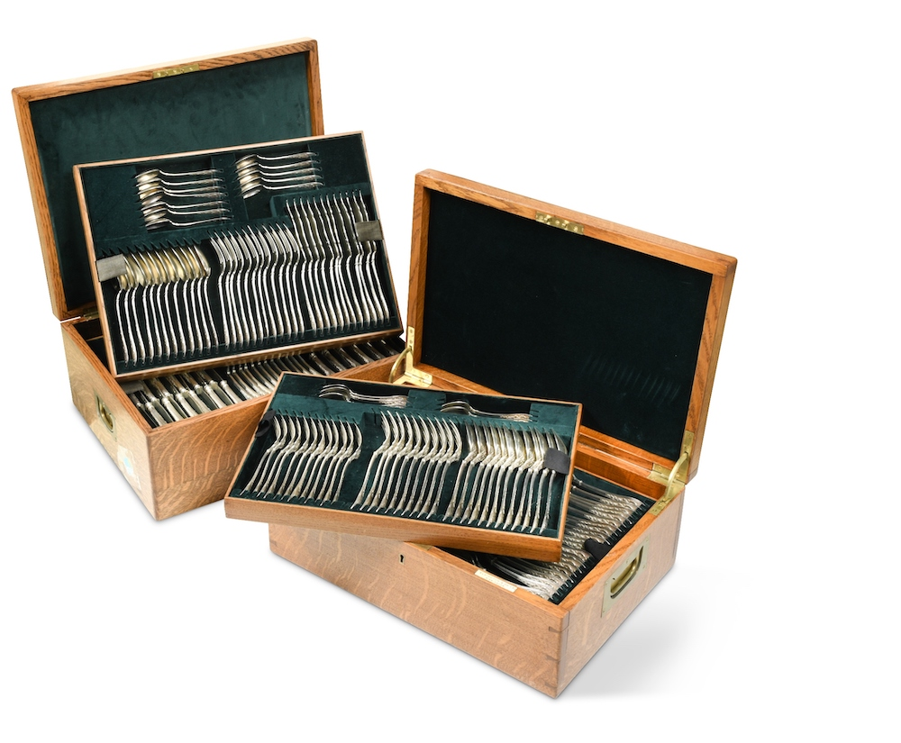 Antique French silver cutlery