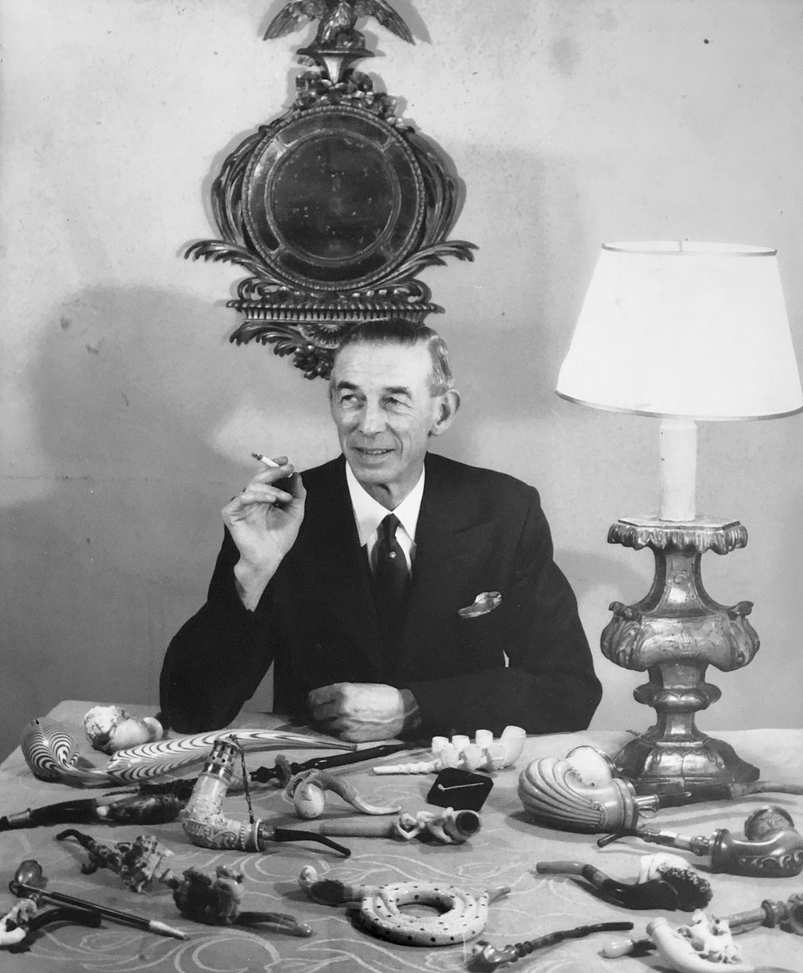 Charles Finch and his lifetime collection of pipes