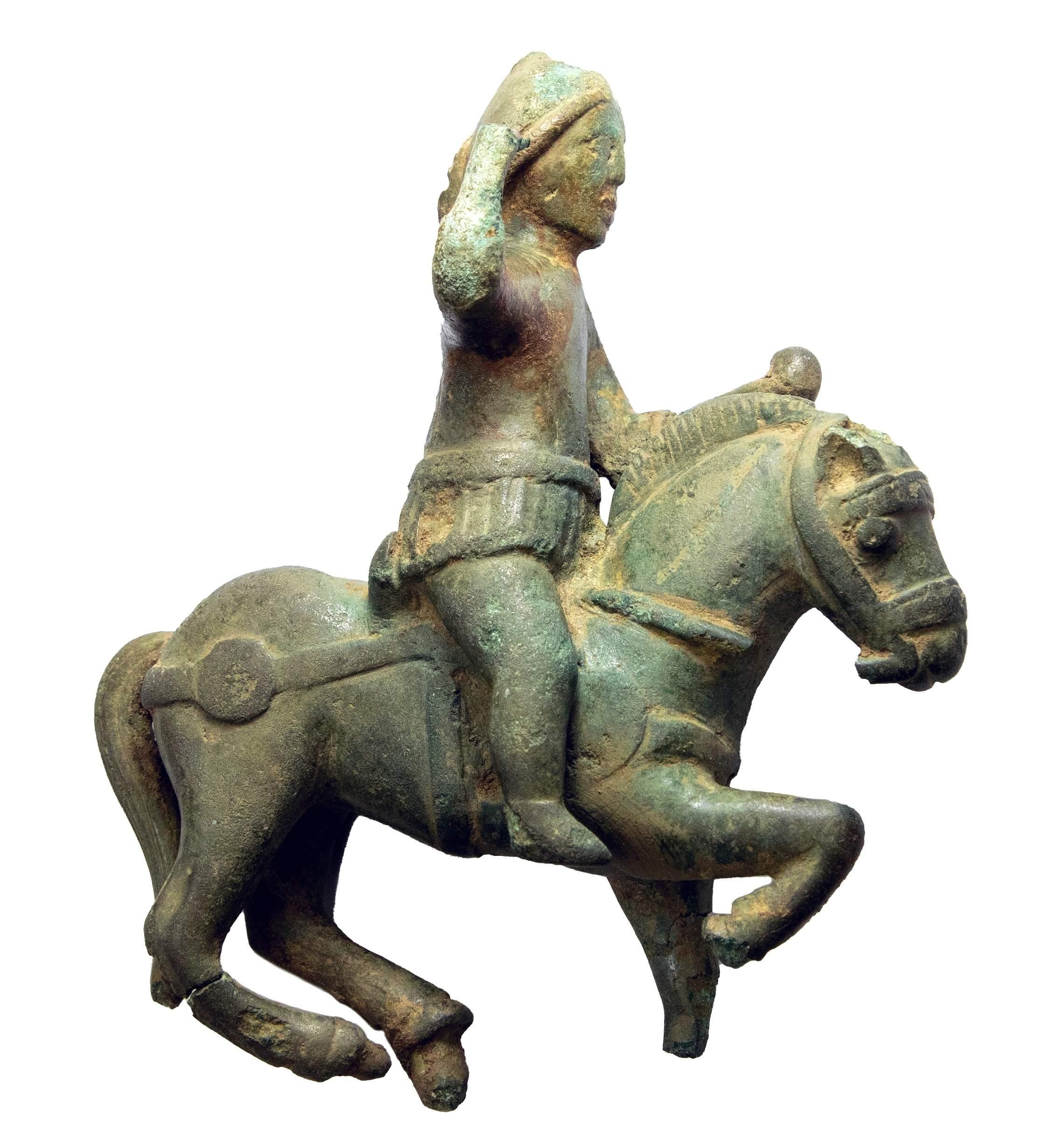 Equestrian statuette of the Roman god Mars