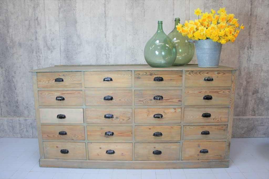 French 19th-century factory drawers