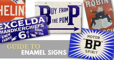 Selection of enamel advertising signs