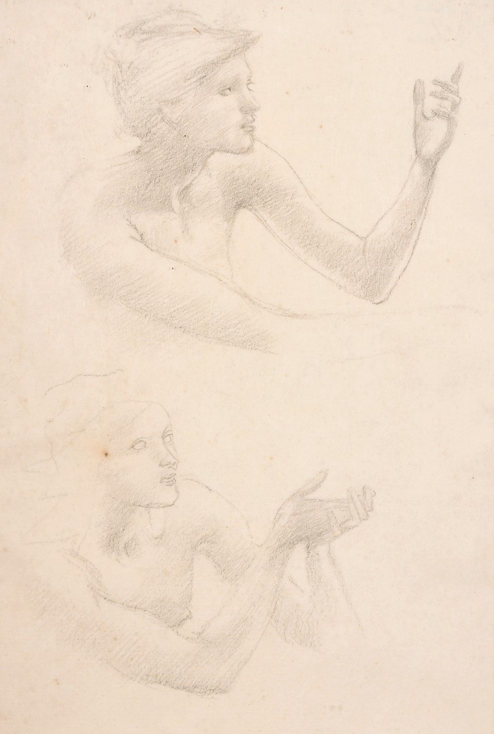 Sir Edward Coley Burne-Jones sketched view of two figures
