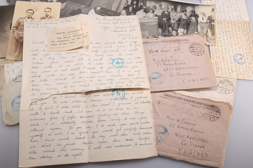 Wartime love letters sent to Gwen Johnson