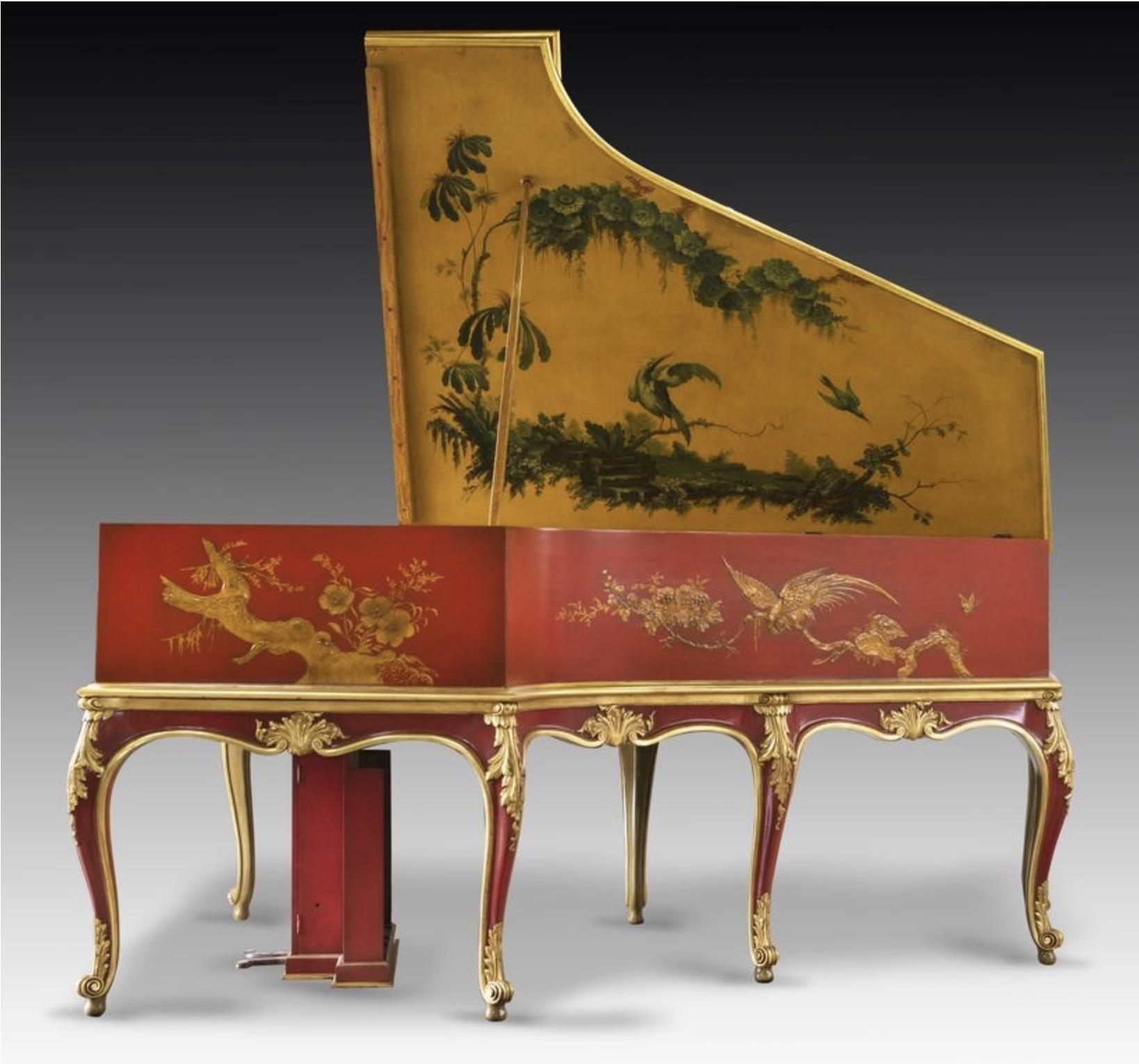 A rare chinoiserie cased 'Auto Pleyela' grand piano by Pleyel, Paris, 1925