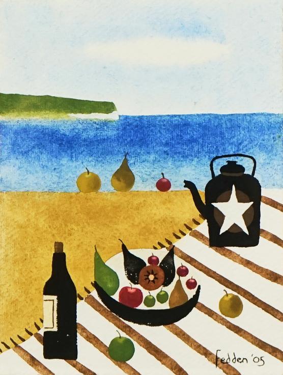 Mary Fedden's Picnic on the Beach