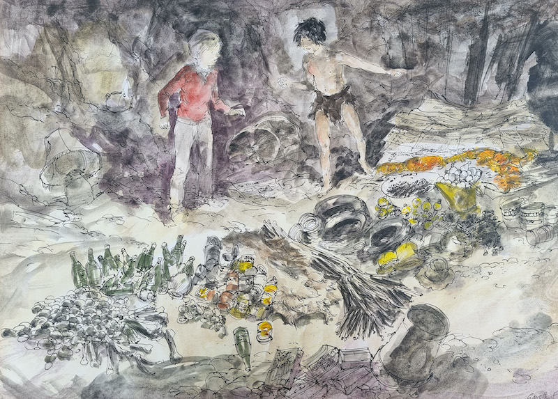 Jackanory illustration for 'Stig of the Dump'