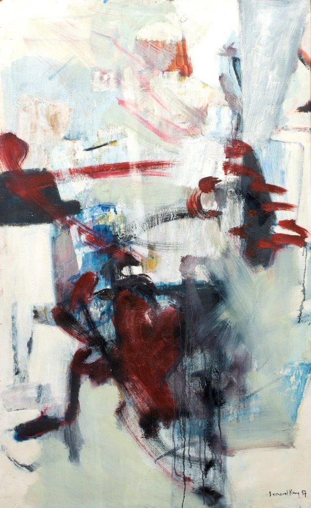 Bernard Kay - Linear Red on White - 1957