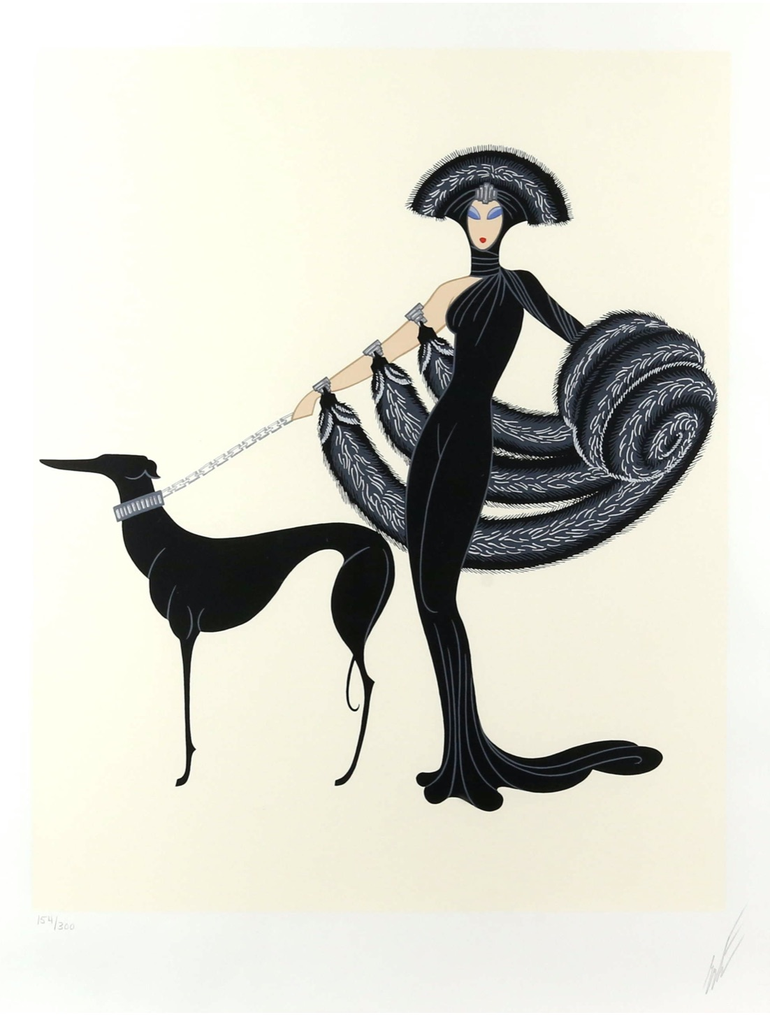 Erté's Art Deco-inspired Symphony in Black