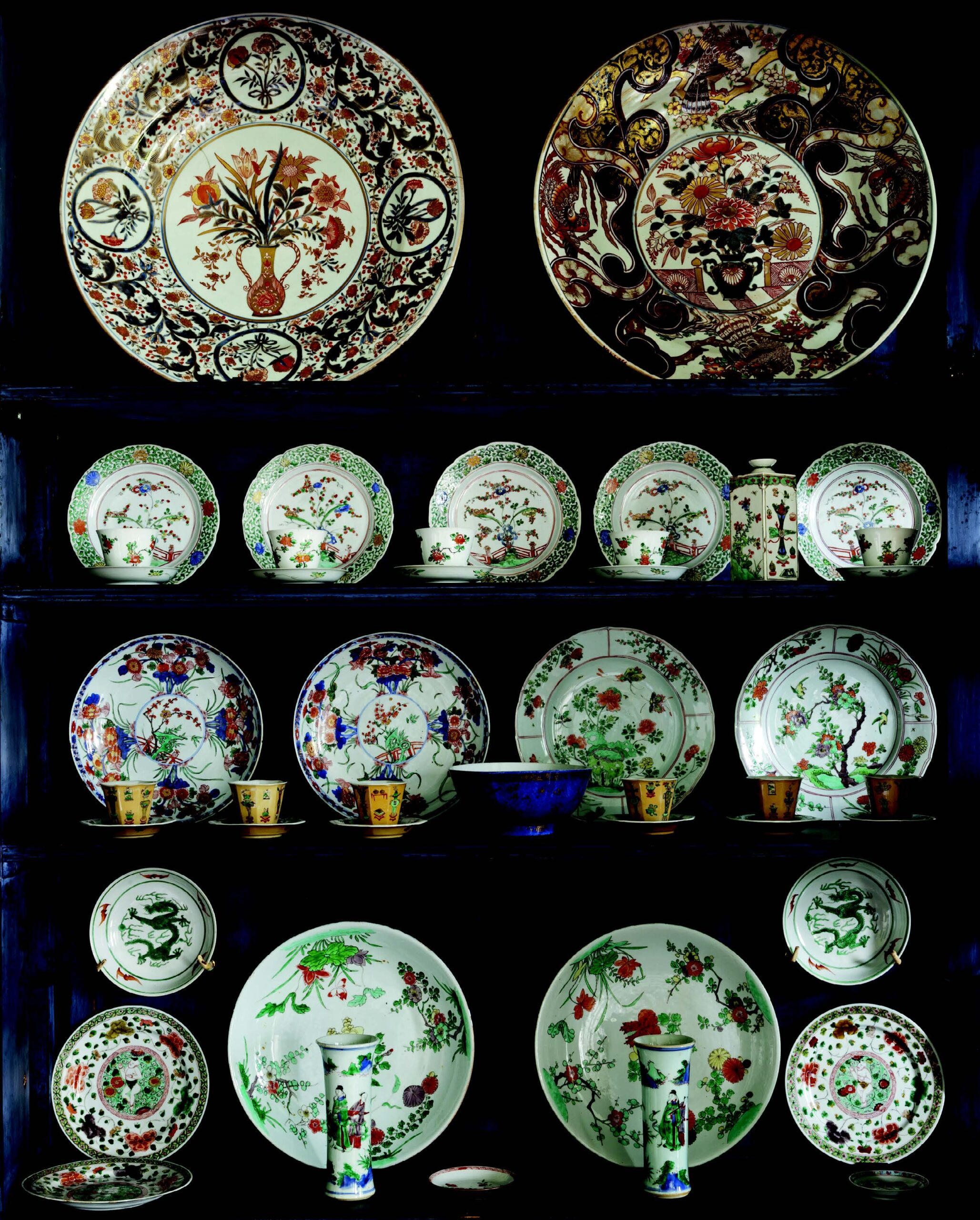 Collection of 17th-century Chinese and Japanese porcelain at Wallington, Northumberland