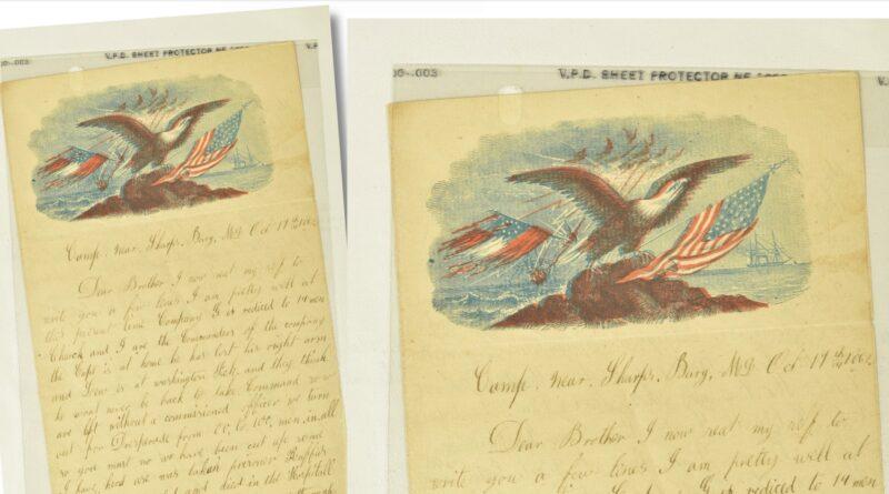 US Civil War letter in Staffordshire sale