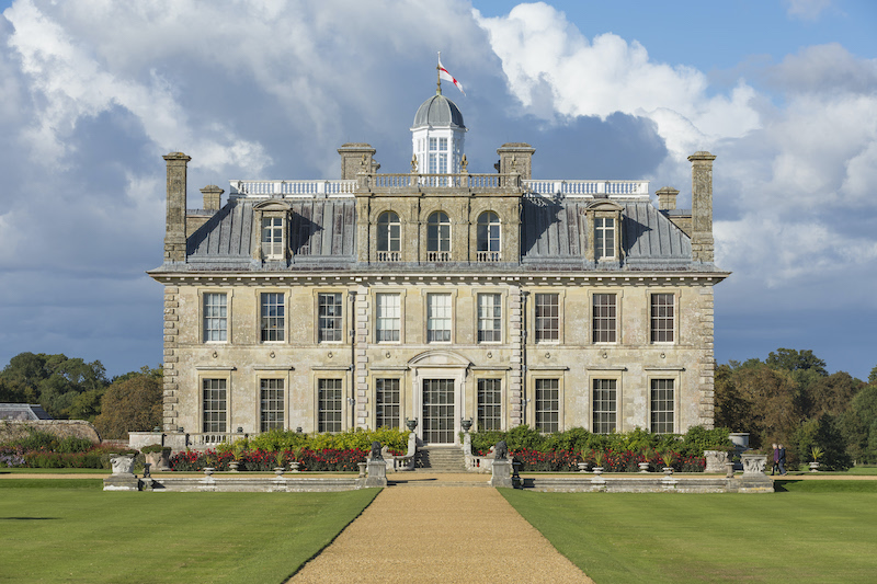 View of the 17th-century mansion from the south lawn at Kingston Lacy, Dorset