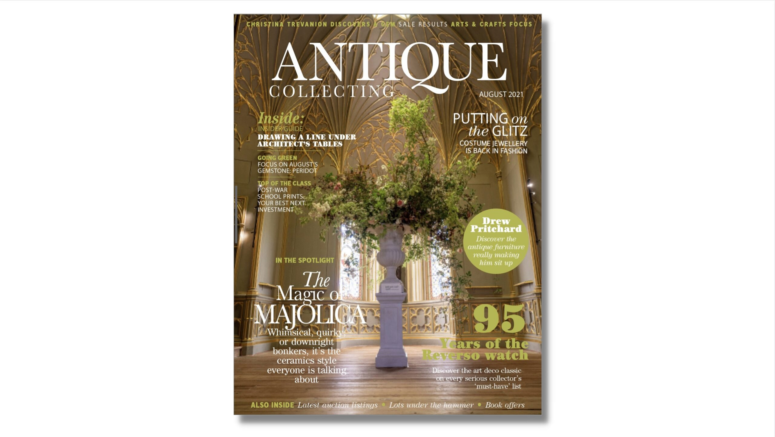 Cover of August Antique Collecting magazine