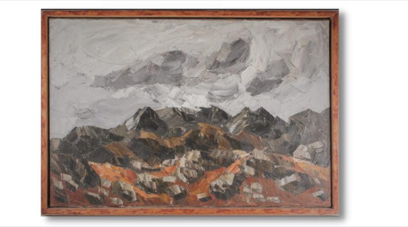 Welsh Mountainous Landscape by Sir Kyffin Williams