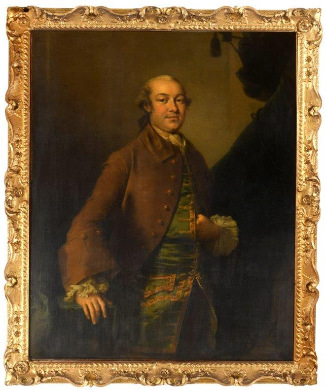 Portrait from 1758 by Thomas Frye of the London brewer George Hodgson