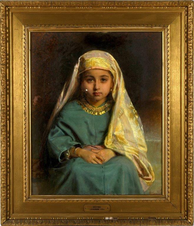 John Bagnold Burgess's Royal Academy exhibit from 1880 entitled `Zehra'